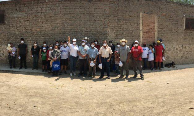 Cindy Arvizu visita la comunidad de de Ojo de Agua e integra sus propuestas a plan de gobierno