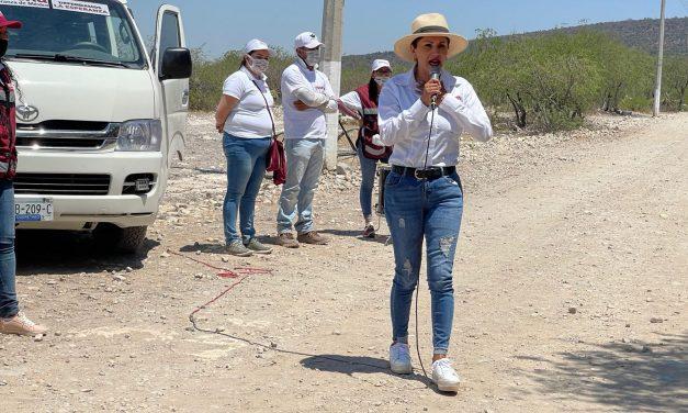 MORENA sigue visitando comunidades llevando su mensaje y propuestas