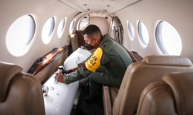 Fuerza Aérea Mexicana «bombardea» nubes para aliviar sequía