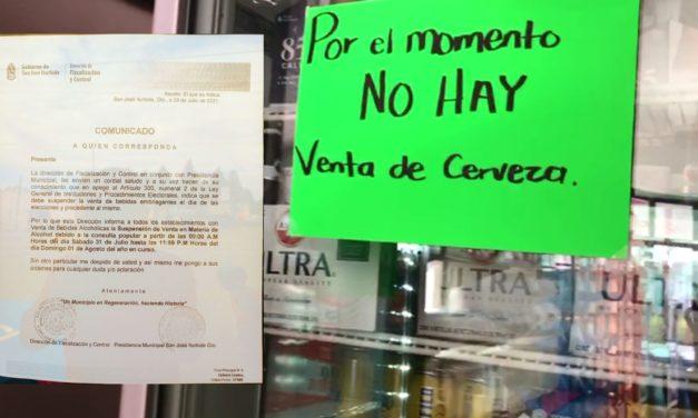 Habrá ley seca en San José Iturbide este 31 de julio y 1 de Agosto por Consulta Popular