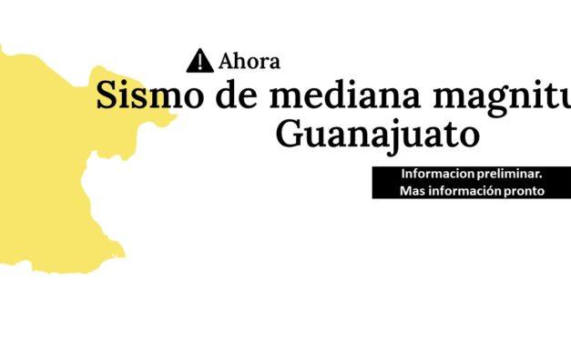 Nuevos sismo de 4.6 grados se reporta en San Felipe Guanajuato