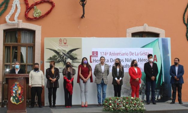Realizan conmemoración de la Gesta Heroica de los Niños Héroes de Chapultepec