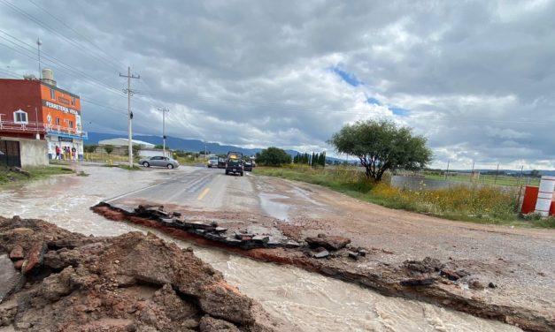 Reparación de carpeta asfáltica en Las Adjuntas podría quedar lista el fin de semana